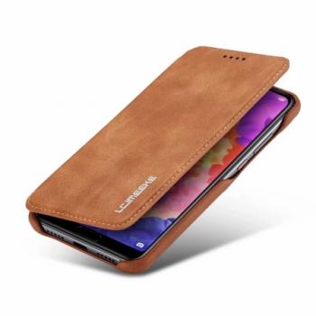 Samsung telefoonhoesje - Lederen Flip Case
