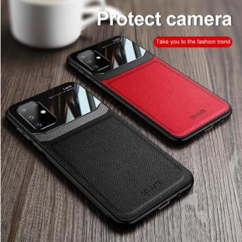 Samsung telefoonhoesje - Lederen / Plexiglas shockproof